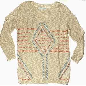 Maurices pullover sweater tan marled size small
